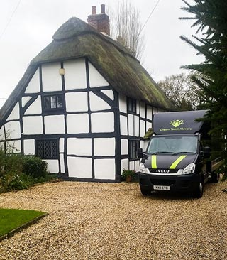 removals van outside house during move