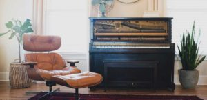 Piano Removals - Upright Piano in a room