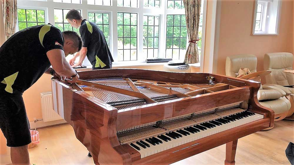 Piano Removals - Upright piano in a house
