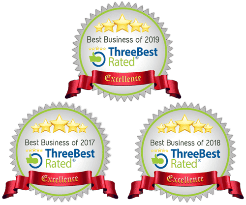 Three Best Rated Award Badge 2017 2018