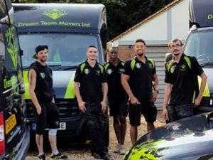 Dream Team - The Team by the removal vans